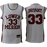 Camiseta sin Mangas para Hombre Jersey-Lakers 33# Kobe Bryant High School Age Vintage Bordado Fresco Tela Transpirable, Unifo