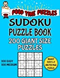 Poop Time Puzzles Sudoku Puzzle Book, 200 Giant Size Puzzles, 100 Easy and 100 Medium: One Gigantic Puzzle Per Letter Size Page: Volume 27