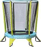 HUDORA Kinder-Trampolin Kindertrampolin Safety 140 Garten Indoor geeignet, grün/blau