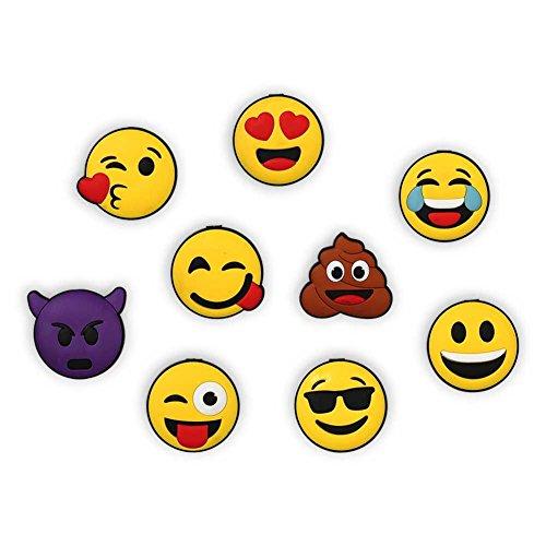 2 x HC-Handel 923312 Magnete 'Emoji' Emoticon mit Gummi 4,5 cm verschiedene Gesichter