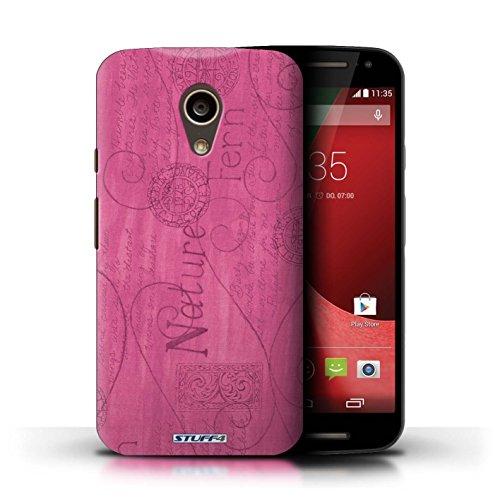 Kobalt® Imprimé Etui / Coque pour Motorola Moto G (2014) / Pourpre conception / Série Motif Nature Rose