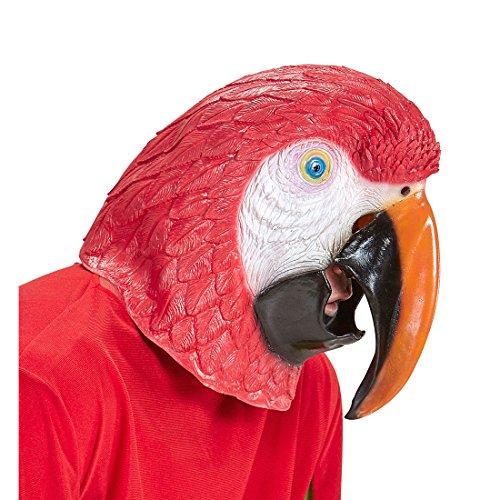 Vogel Tiermaske Papagei Maske Ara Vogelmaske Papageienmaske Kostüm Accessoire Erwachsene Papageien (Roter Ara Kostüm)