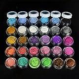 Professionelle Glitter Eyeshadow 30 Farben Mix Glitter Puder Lidschatten Eyeshadow Kosmetik Schminke Makeup Set