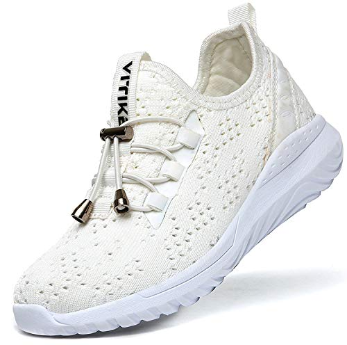 ASHION Kinder Turnschuhe Jungen Sport Schuhe Mädchen Kinderschuhe Sneaker Outdoor Laufschuhe für Unisex-Kinder(D-Weiß,37 EU)