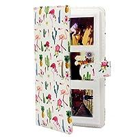 HUANGMENG Album Flamingo Cactus Pattern 3 inch DIY PU Mini Creativity Insert Type 32 Pages Exquisite Photo Album for Polaroid