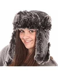 New Mens Womens Unisex Fur Digi Effect Trapper Warm Winter Thermal Hat AW115