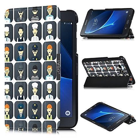 IVSO Ultra Schlank Ständer Slim Leder zubehör Schutzhülle für Samsung GALAXY Tab A (2016) SM-T280 17.8cm (7 Zoll) Tablet-PC perfekt