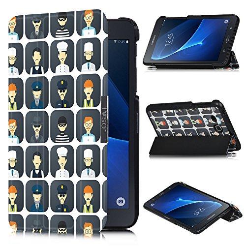 IVSO Ultra Schlank Ständer Slim Leder zubehör Schutzhülle für Samsung GALAXY Tab A (2016) SM-T280 17.8cm (7 Zoll) Tablet-PC perfekt geeignet