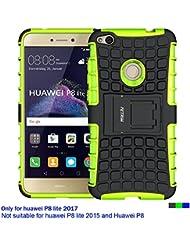 Huawei P8 Lite 2017 Hülle , Huawei P8 Lite 2017 Case , Fetrim Silikon TPU plastik Schlank Schutzhülle Handyhülle Stoßfest Schutz Etui handy Doppelstruktur fall Harte Rüstung cover schale für Huawei P8 Lite 2017 mit Ständer