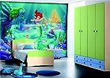 Fototapete Arielle die Meerjungfrau - Größe 360 x 270, 4-teilig