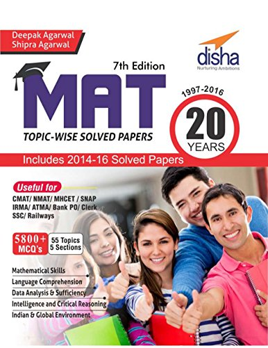 MAT 20 years Topic-wise Solved Papers (1997-2016)