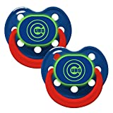 Baby Fanatic Pacifier Glow In The Dark (2 Pack) Chicago Cubs By Baby Fanatic