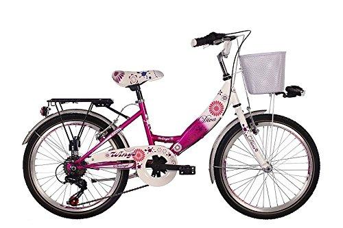 20 Zoll Cityrad Cityfahrrad Mädchenfahrrad Kinderfahrrad Citybike City Fahrrad 6 Gang Shimano STVO inkl. Metallkorb Diva PINK