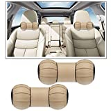 #9: Vheelocityin High Quality Dumbell Round Beige Car Neck Cusion Pillow