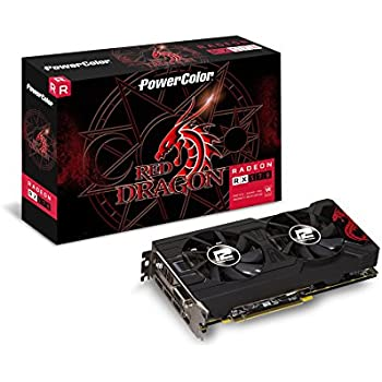 PowerColor AMD ATI Radeon PCI-E RX 570 Red Dragon 4 GB DDR5 HDMI/3xDP Graphics Card - Grey