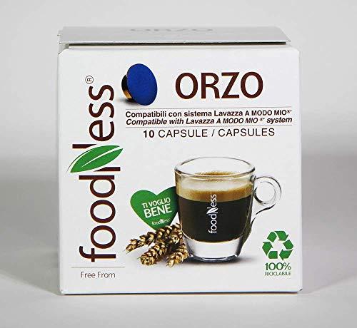 Foodness - 10 capsule caffè d\'orzo compatibile lavazza a modo mio (1 box da 10 capsule)