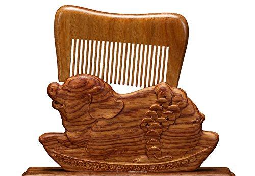 Liveinu Harfenform breiter Zahn Haare kämmen für die volle Bart und Schnurrbart (Licht Bart Voller)