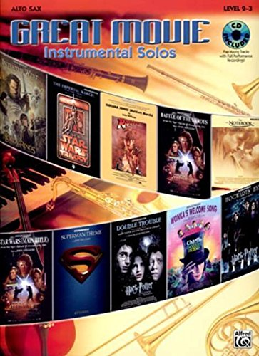 Great Movie Instrumental Solos: Alto Sax, Book & CD