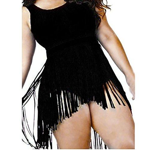 Fuibo Frauen Badebekleidung Push-Up Gepolsterte BH Plus Size Bikini Set Badeanzug Schwarz
