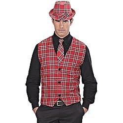 Chaleco hombre a cuadros Disfraz escocés M/L 50/52 Top de hombre de cuadros Traje tradicional escocés Disfraz típico Escocia Ropa a cuadros