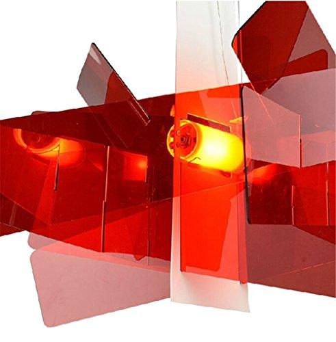 Diam. 65 cm/95 cm moderne Big Bang à empiler Créatif moderne lustre Éclairage en pandant Plafonnier E27 Ampoules LED 90-260 V Rot 95 Cm.