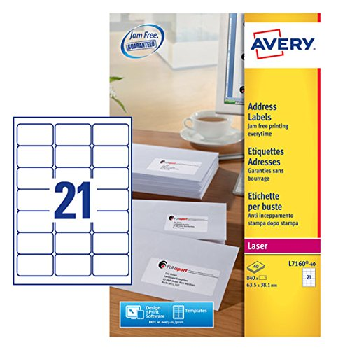 avery l7160 40 self adhesive address mailing labels amazon fba