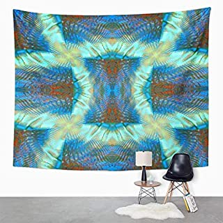 Eriesy Wall Tapestry Blue Abstract Symmetrical Colorful Artistic Book Bright Clip Composition Cool Tapestry Wall Hanging Home Decorations Mysterious for Bedroom Home 150x200cm