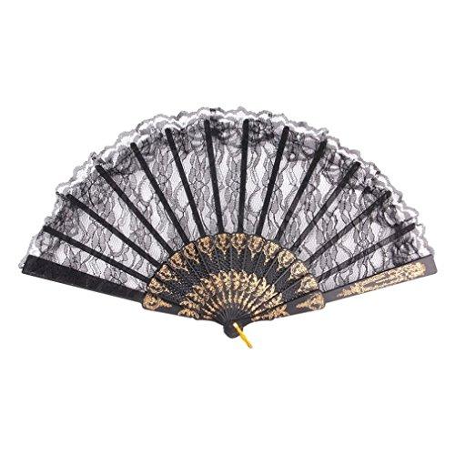 Lightleopard Chinesischer Weinlese-Abendkleid-Kostüm-Partei-Stab-Tanzen-faltender Spitze-Handfächer
