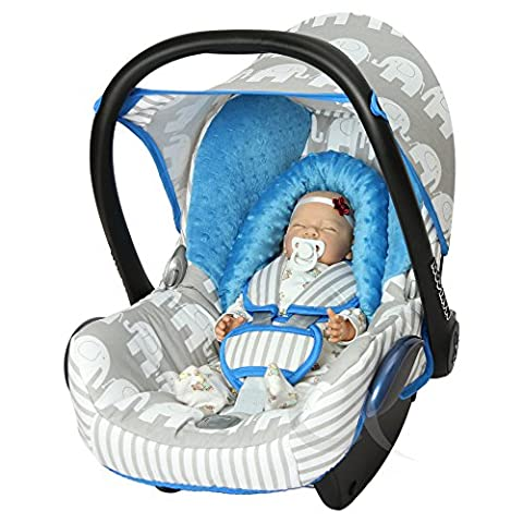 Replacement Seat Cover fits Maxi-Cosi CabrioFix Group 0+ Infant Carrier FULL set COTTON (sky blue /