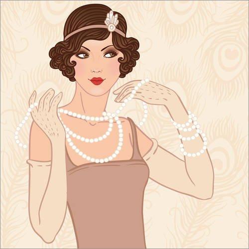 Posterlounge Forex-Platte 120 x 120 cm: Flapper-Frau von -