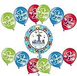 Libetui Set Luftballons 27,5 cm Deko 1. Geburtstag Party Kindergeburtstag Happy Birthday Dekoration (Zahl 1)