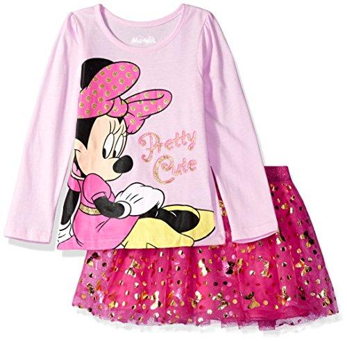 Disney Little Girls' Minnie Mouse Skirt Set, Petal Pink, 6X (Petal Pink Bekleidung)