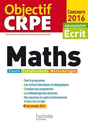 Objectif CRPE Maths - 2016