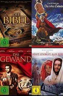 Die grössten BIBEL KLASSIKER : DIE ZEHN GEBOTE * DAS GEWAND * DIE GRÖSSTE GESCHICHTE ALLER ZEITEN * DIE BIBEL Monumentalfilme D