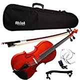 Aklot pour violon 4/4Taille complète Naturel acoustique Violon avec étui Bow Épaulière Tuner Colophane pour violon Bois Instruments de musique Violin B Style