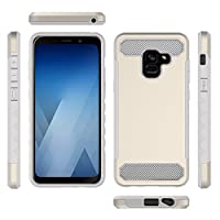 ‏‪Slim Simple Carbon Fiber Mobile Phone Case Cover For Samsung Galaxy A8+ 2018‬‏