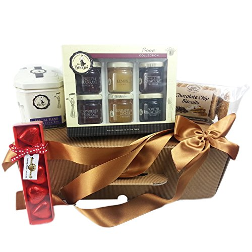 Tea Break Gift Hamper For Mum - perfect Christmas gift with Mrs Bridges preserve collection, chocolate chip cookies
