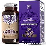 FS trans-resveratrolo [150 mg], estratto di polifenoli da Polygonum Cuspidatum | 60 capsule vegane | ALTA POTENZA | Integratore naturale e potente antiossidante - Senza OGM, glutine e latticini