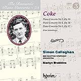 Roger Sacheverell Coke: Piano Concertos Nos 3, 4 & 5 [Simon Callaghan; BBC Scottish Symphony Orchestra; Martyn Brabbins] [Hyperion: CDA68173]