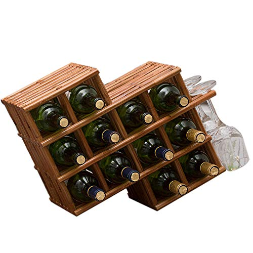 RFJJAL Weinregale Weinflaschenhalter Home Solid Wood Wine Shelf - Solid Shelf Kit