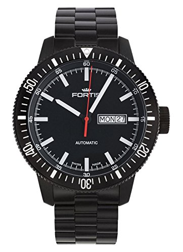 Fortis gents-wristwatch b-42 Monolith giorno/data analogico automatico 647.18.31 m