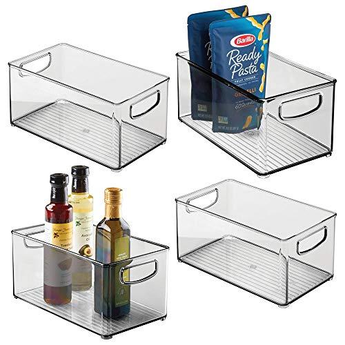 MDesign Juego 4 cajas organizadoras asas