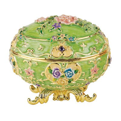 Design Toscano FH1586 Œuf Emaillé Style Fabergé Renaissance, Émail, 6.5 x 9 x 7.5 cm