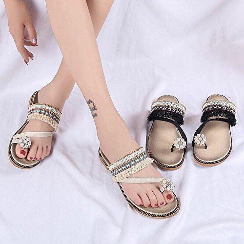 half off cfda1 648c3 Pantofole Donna estive, Sandali Donna Styledresser Elegant Ciabatte Donna  estive da casa Mare Sandali piatti Beach Open Toe Shoes Gioiello -Moda  Donna ...