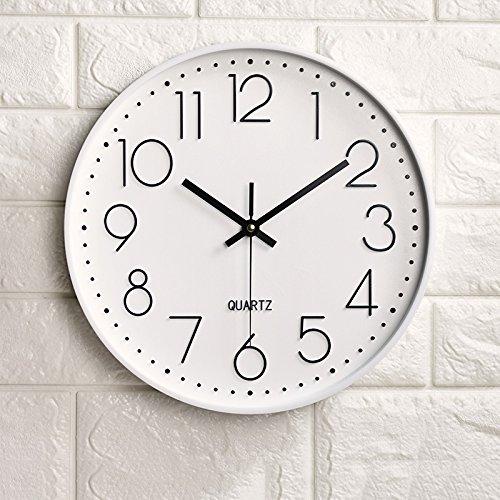 Vinteen creatività moda horologe orologio e orologi art orologio da parete silenzioso soggiorno camera da letto orologio da parete della casa atmosfera moderno semplice orologio al quarzo orologio ( color : white )