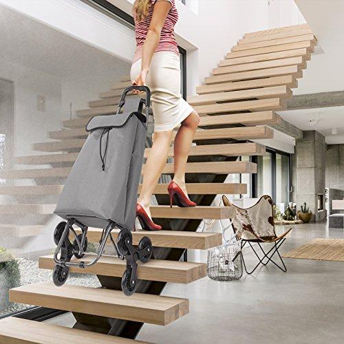 EASYmaxx Einkaufstrolley Treppensteiger 3-Rad-Mechanik bis 30 Kg Mühelos über Bordsteine und Treppen - Faltbar