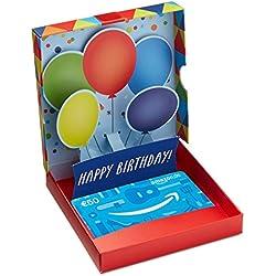 Amazon.de Geschenkkarte in Geschenkbox - 50 EUR (Geburtstagsüberraschung)