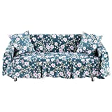 Sofa Cover Protector Printed Cotton Blend Slipcover for 1 2 3 Seater Sofa Cover with Pillowcase