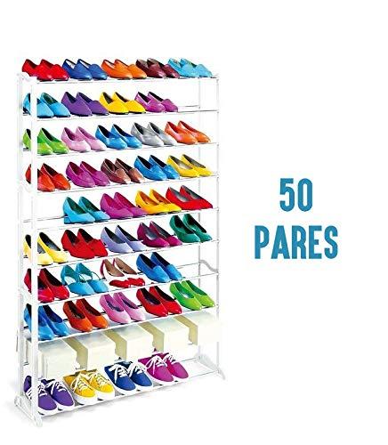 Tutiendastore Zapatero para 50 Pares Mueble Organizador de Calzado para Zapatos y Zapatillas