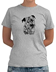 Irish Wolfhound FACE SPECIAL GRAPHIC Dame T-Shirt